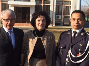 Dna. Chantal Moreno, directorul Biroului pentru Europa Centrală şi de Est al OIF, Lt-Col. Jaona Andrianaivo si Dl. Serge Rameau
