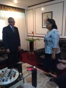 E.S. Dna. Béatrice Atallah, Ministrul Afacerilor Externe al Republicii Madagascar si Dl. Serge Rameau, Consul General Onorific al Republicii Madagascar in Romania